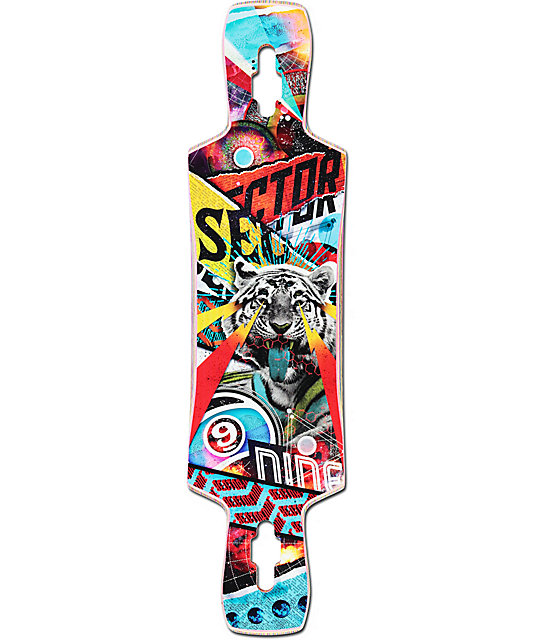 "Sector 9 Static 39.5""  Drop Through Longboard Deck"