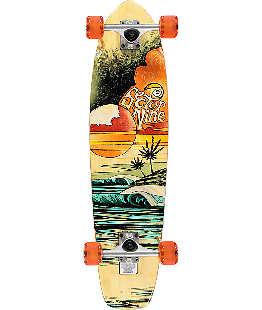 "Sector 9 Strand 34"" Bamboo Longboard Complete"