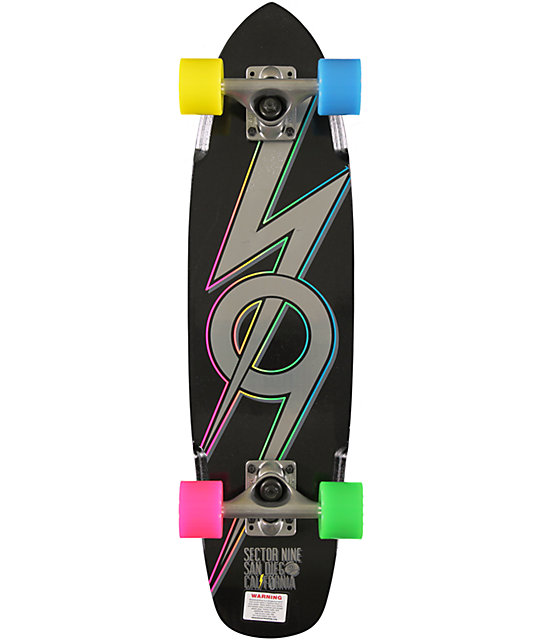 "Sector 9 The 83 Black 28.0""  Cruiser Complete Skateboard"