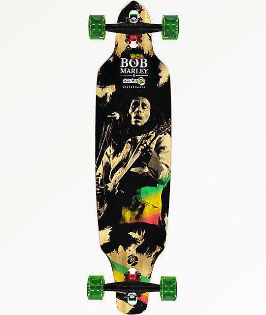 "Sector 9 x Bob Marley Jamming 38"" Drop Through Longboard ... Longboard Sector 9 Bob Marley"