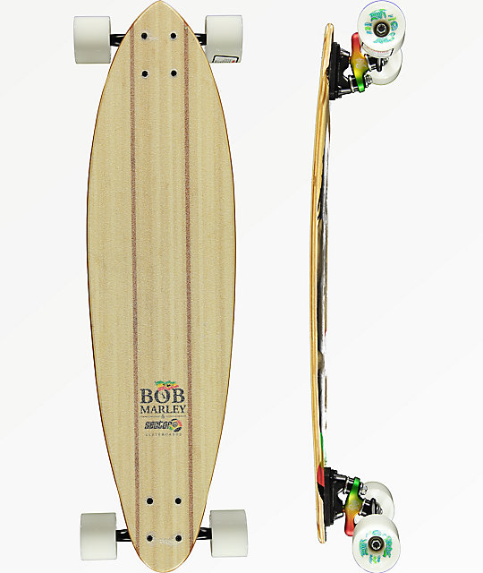 "Sector 9 x Bob Marley Small Axe 32"" Pintail Longboard Complete"