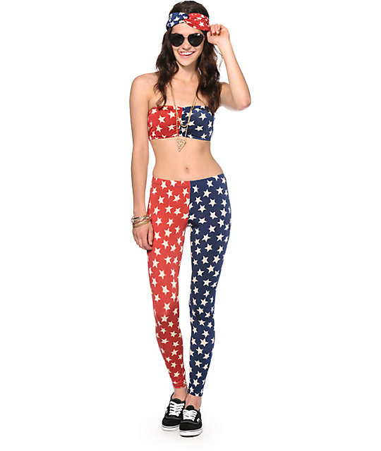 See You Monday Americana Stars & Stripes Leggings