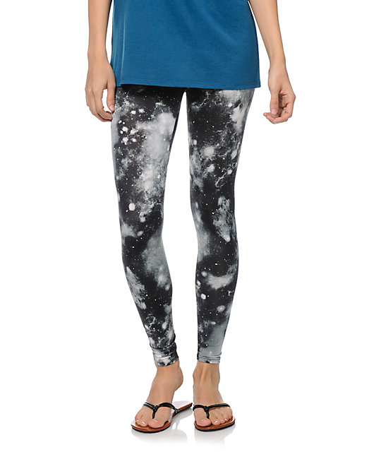 See You Monday Black & White Celestial Leggings