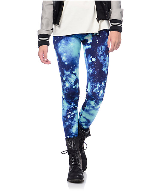 See You Monday Blue Celestial Leggings