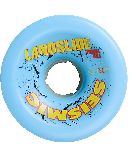 Seismic Landslide 75mm Longboard Wheels
