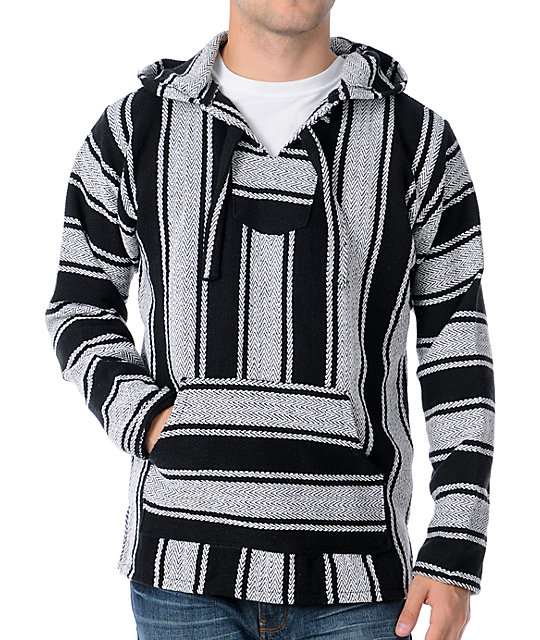 Senor Lopez Black & White Poncho