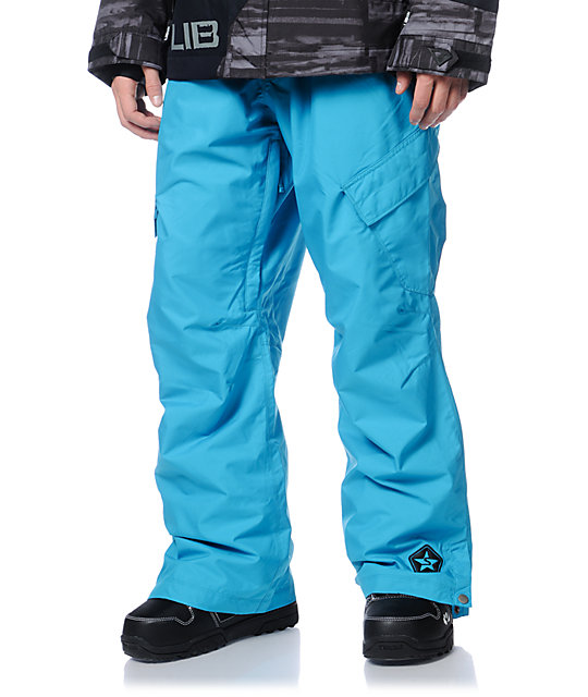 Sessions Zoom Turquoise 10K Snowboard Pants