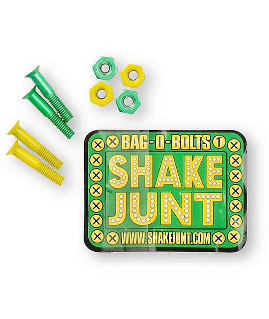 Shake Junt Bag-O-Bolts Green & Yellow 1 Skateboard Hardware