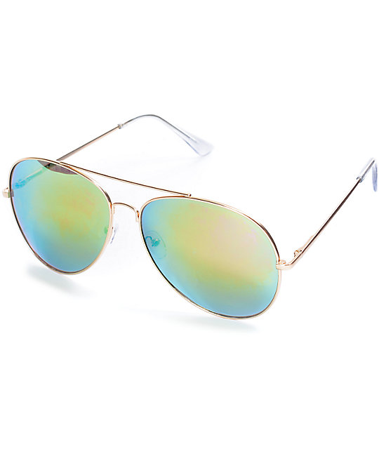 Sherrick All Rose Aviator Sunglasses