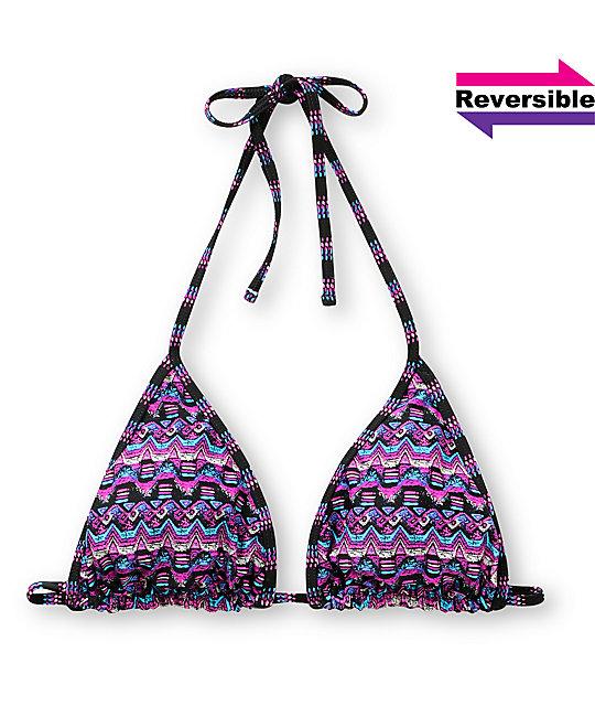 Shi Cozumel Purple Reversible Bikini Top