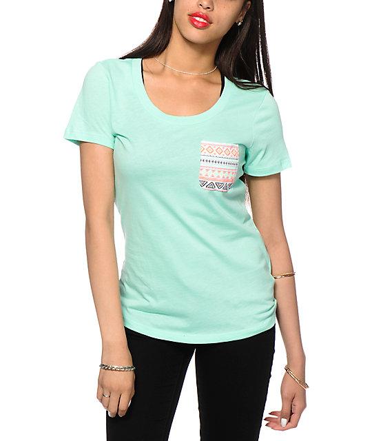 Sirens & Dolls Geo Tribal Pocket T-Shirt