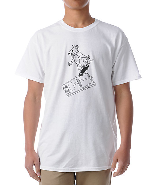Sk8Rats Rat Trap Grind White T-Shirt