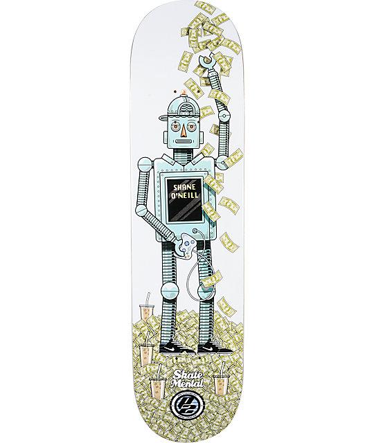 """Skate Mental ONeill P2 Robot 8.0""""  Skateboard Deck"""