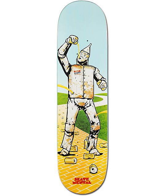 "Skate Mental Rusty Tin Man Dan Plunkett 8.125""  Skateboard Deck"