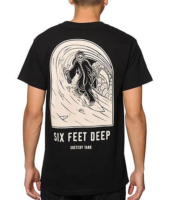 Sketchy tank 6ft deep t shirt for Be sketchy t shirts