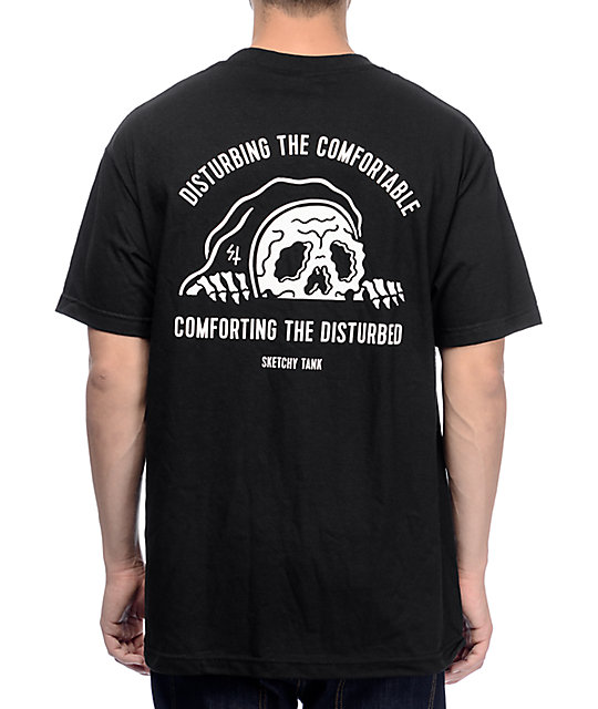 Sketchy tank comfort black t shirt at zumiez pdp for Be sketchy t shirts