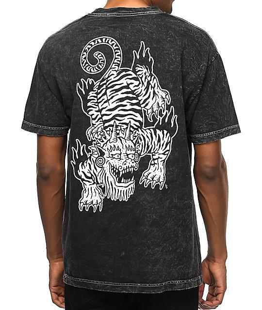 Tank Crawl Acid Wash Black T-Shirt