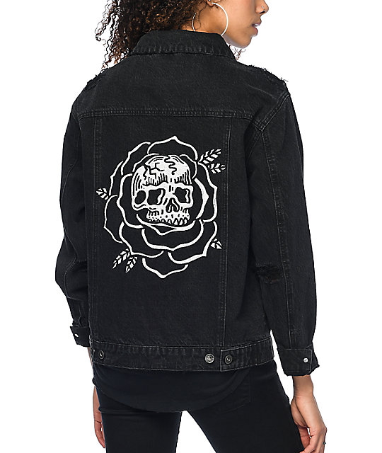 Sketchy Tank Dane Black Denim Jacket