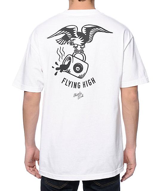 Sketchy tank flying high t shirt for Be sketchy t shirts