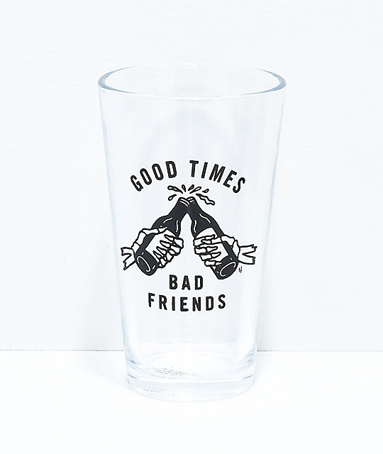 Sketchy Tank Good Times 2 Pack Pint Glasses by Sketchy Tank