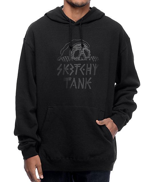 Sketchy Tank Lurk Black Hoodie
