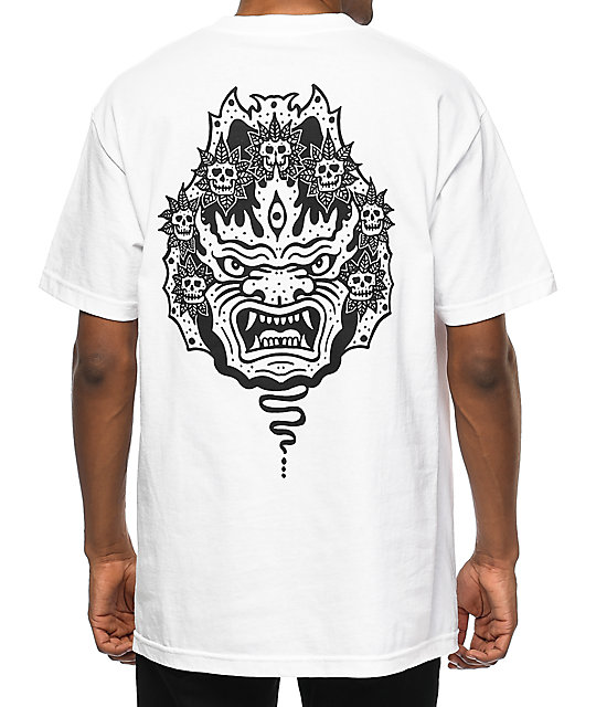 Sketchy tank mask white t shirt at zumiez pdp for Be sketchy t shirts