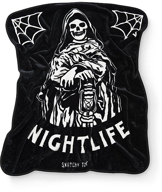 Sketchy Tank Nightlife Blanket
