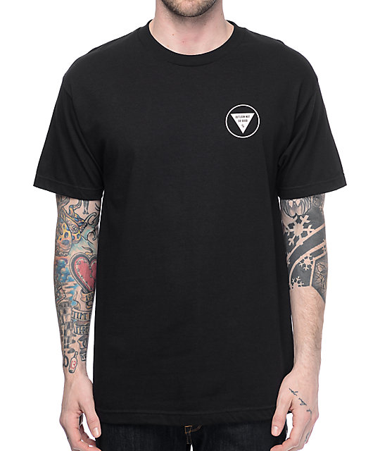 Sketchy Tank Outlook Black T-Shirt