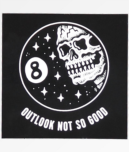Down With My Demons Tattoo: Sketchy Tank Outlook Not So Good Sticker