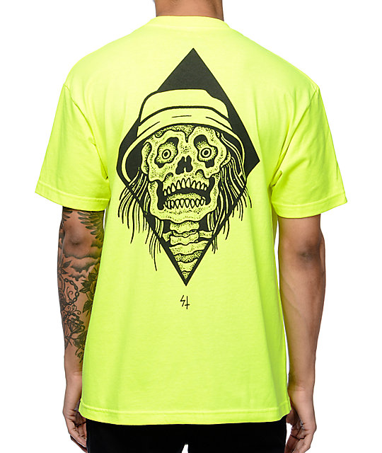 Sketchy Tank Shock Neon Yellow T-Shirt at Zumiez : PDP
