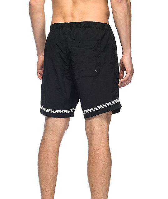 "Sketchy Tank Sly Link Black & White 16"" Board Shorts"