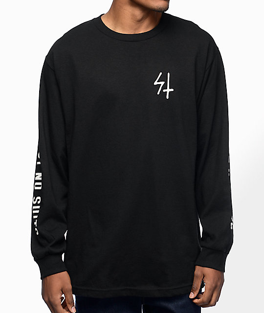Sketchy Tank Trust Black Long Sleeve T-Shirt at Zumiez : PDP