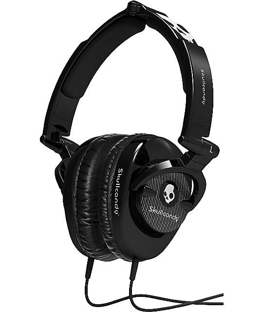 Skullcandy Black Skullcrushers Pinstripe Headphones