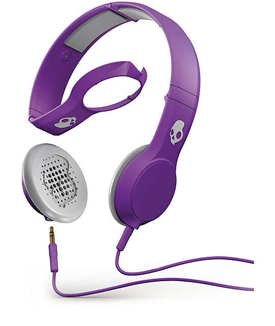 Skullcandy Cassette Athletic Purple Headphones
