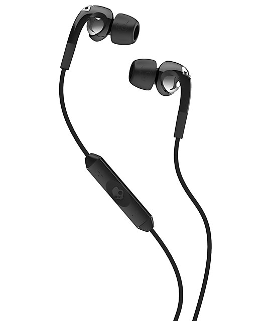 Skullcandy Fix Black & Chrome Micd Earbuds