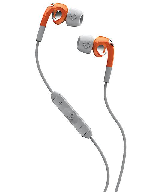 Skullcandy Fix Orange & Grey Micd Earbuds