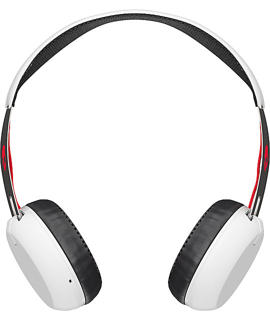 Skullcandy Grind Wireless White, Black & Red Headphones