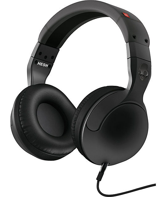 Skullcandy Hesh 2.0 Carbon & Red Micd Headphones