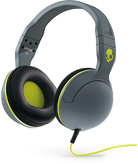 Skullcandy Hesh 2.0 Grey & Hot Lime Headphones