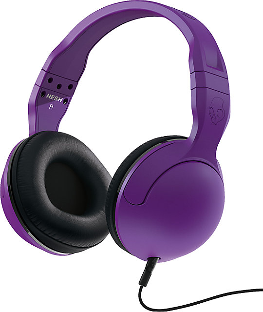 Skullcandy Hesh 2.0 Purple Micd Headphones