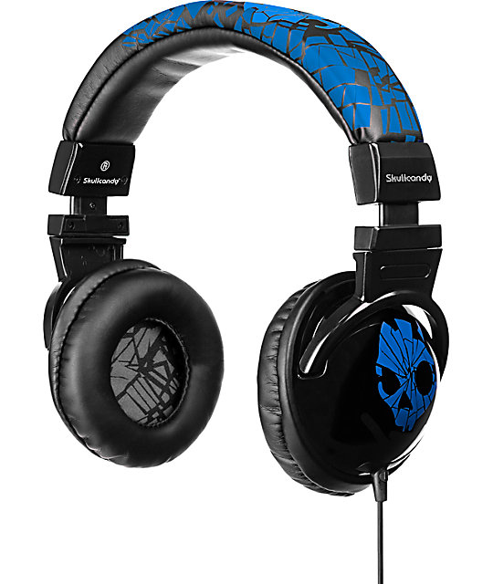 Skullcandy Hesh Shattered Blue Headphones