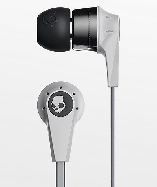 Skullcandy Ink'd 2.0 Mic'd  Grey Chrome Earbuds