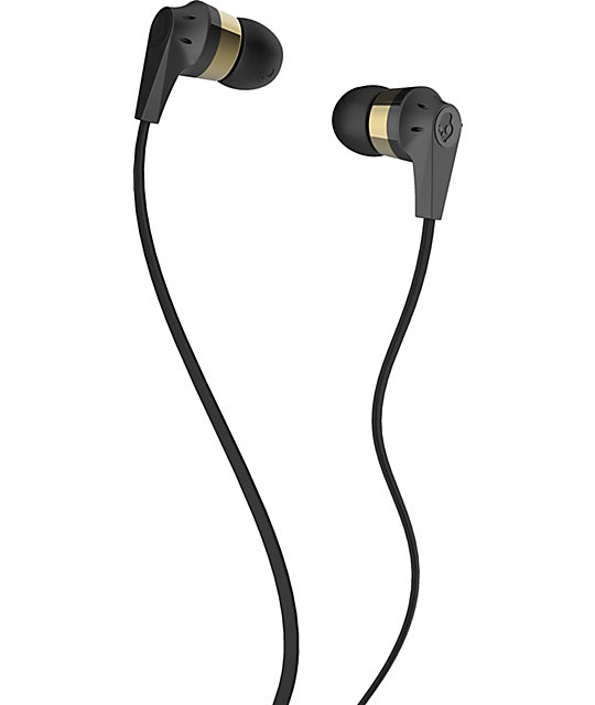 Skullcandy Inkd 2.0 Black & Gold Earbuds