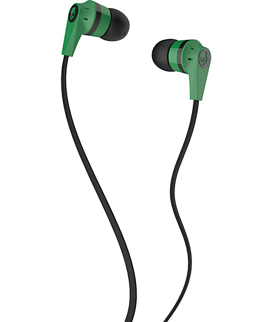 Skullcandy Inkd 2.0 Green Earbuds