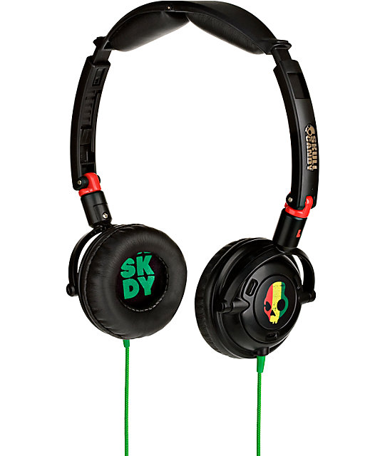 Skullcandy Lowrider Rasta Micd Headphones