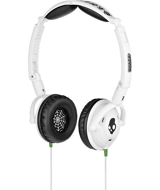 skullcandy lowrider white mic headphones zumiez