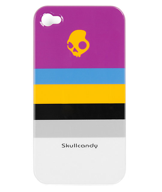 Skullcandy Purple Stripe Clip-On iPhone 4 Case