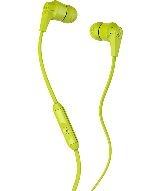 Skullcandy Riot Hot Lime Micd Earbuds