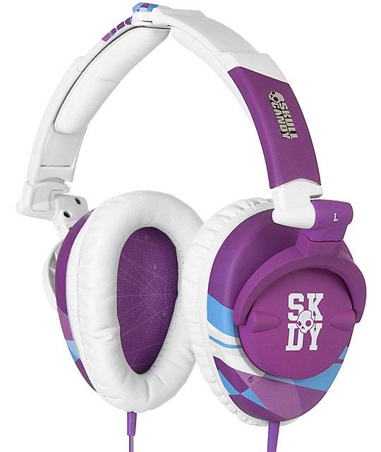 Skullcandy Skullcrusher Purple & White Headphones