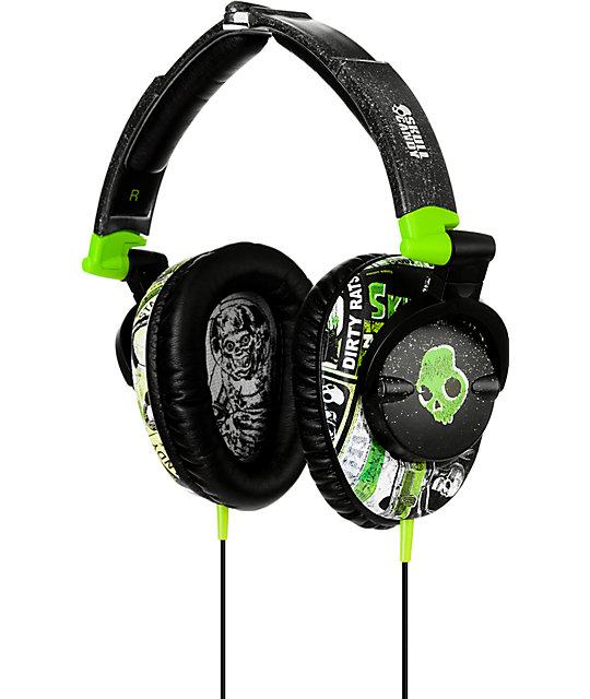 Skullcandy Skullcrushers Lurker Green & Black Headphones